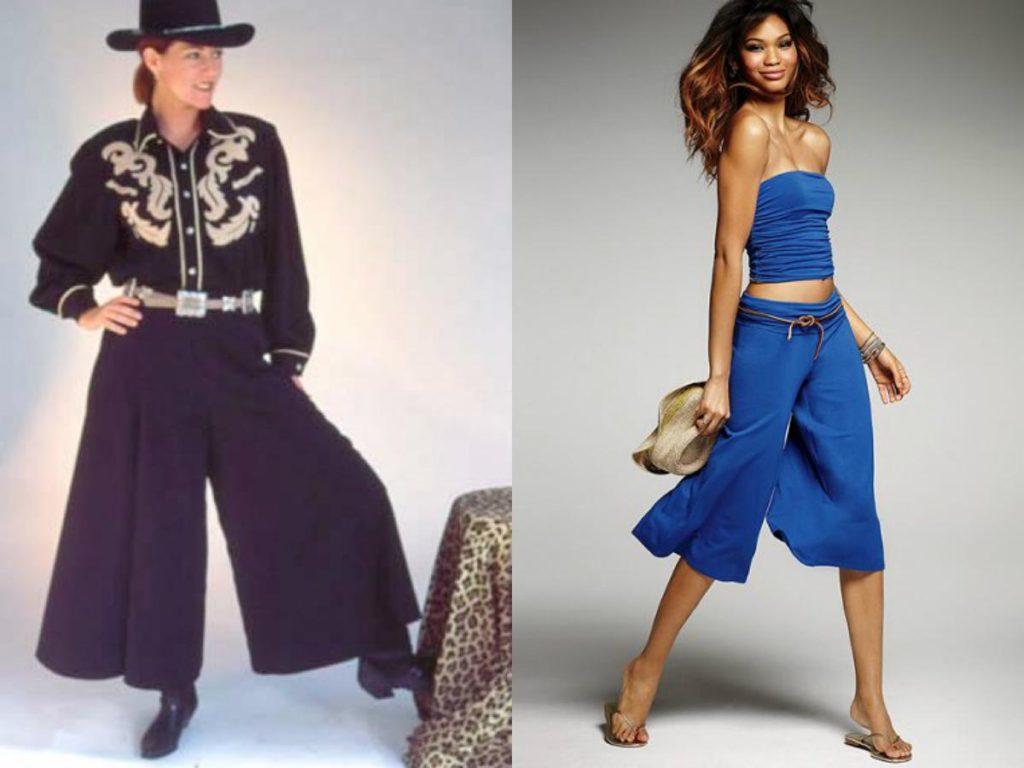 брюки кюлоты с чем носить летние черные синие
