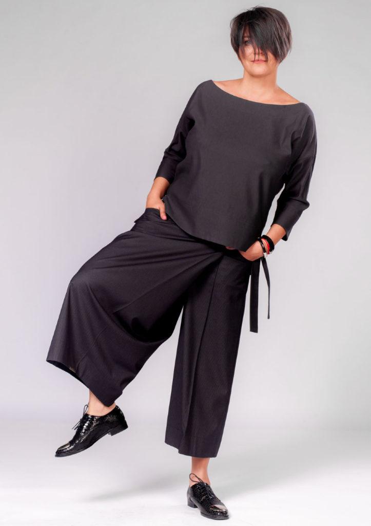 с чем носить кюлоты черные атласные женские