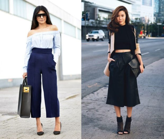 брюки кюлоты с чем носить