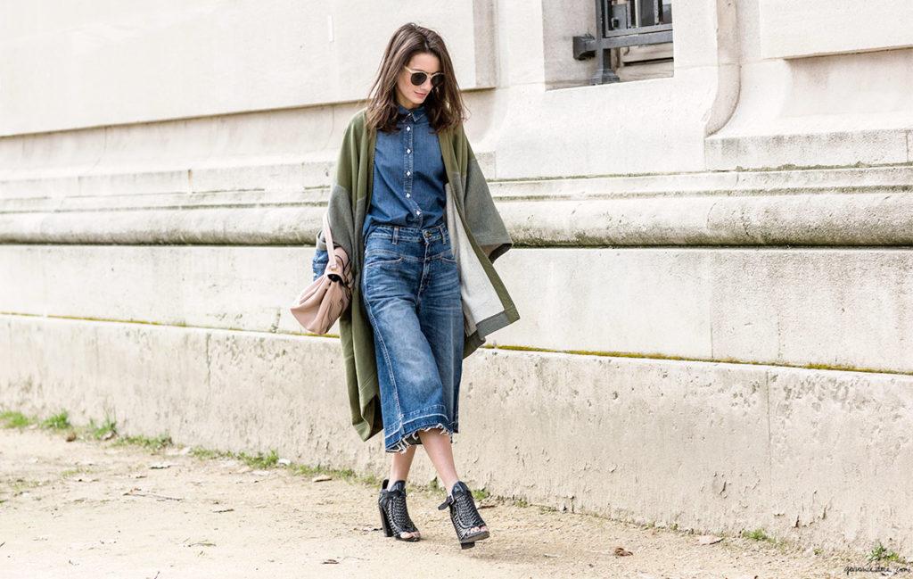 кюлоты джинсовые с чем носить