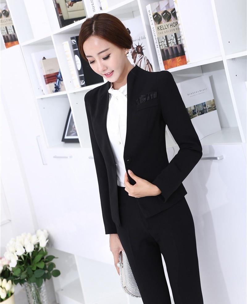 брюки с завышенной талией черные с пиджаком