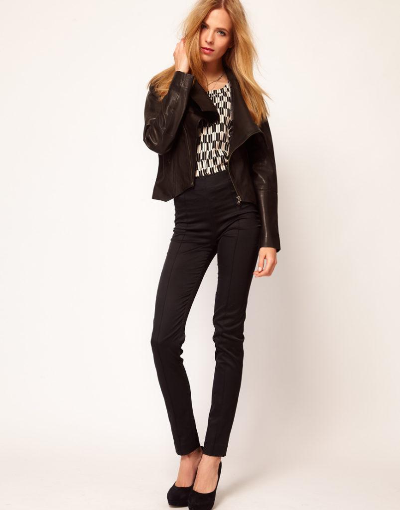 брюки с завышенной талией черные