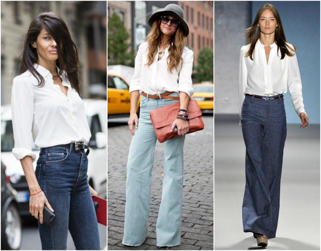 брюки с завышенной талией синие , бирюзовые с поясом