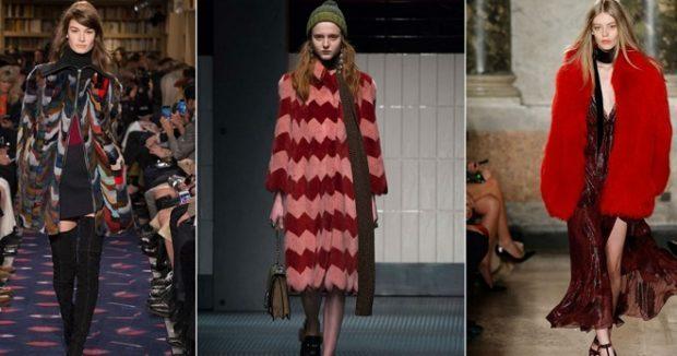 модные женские кардиганы: объемные в принт красный