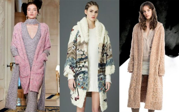 модные кардиганы 2021: розовый в принт коричневый длинные