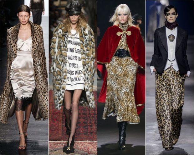 модные принты осень зима 2019-2020: леопардовый пальто шуба платье брюки