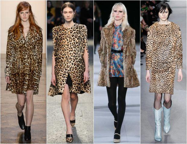 модные принты осень зима 2019-2020: леопардовый шубка жилетка кофта юбка