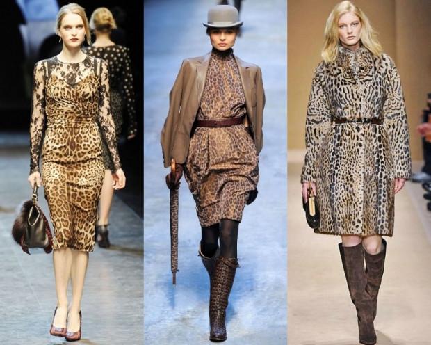 модные принты осень зима 2019-2020: леопардовый платья пальто