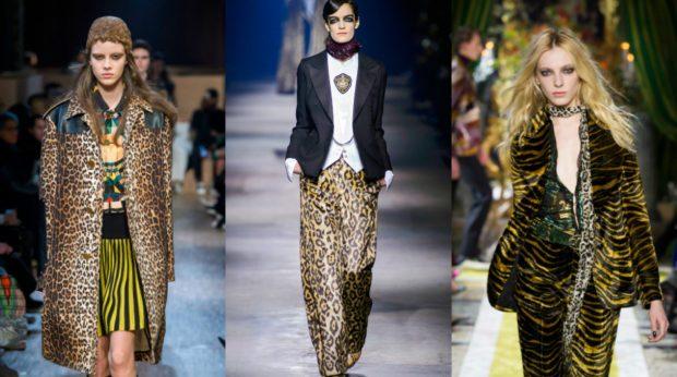 модные принты осень зима 2019-2020: леопардовый пальто брюки шубки