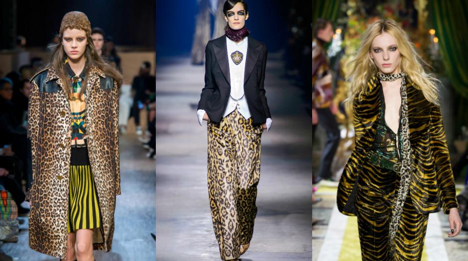 принт леопардовый пальто брюки шубки