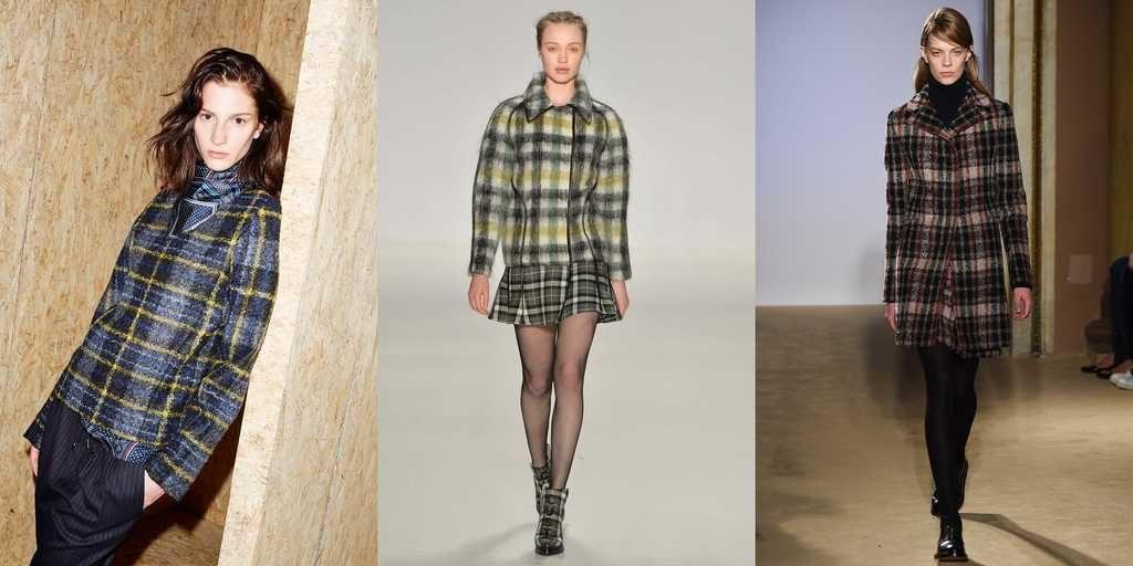 модные принты осень зима 2019-2020: пальто короткие в клетку