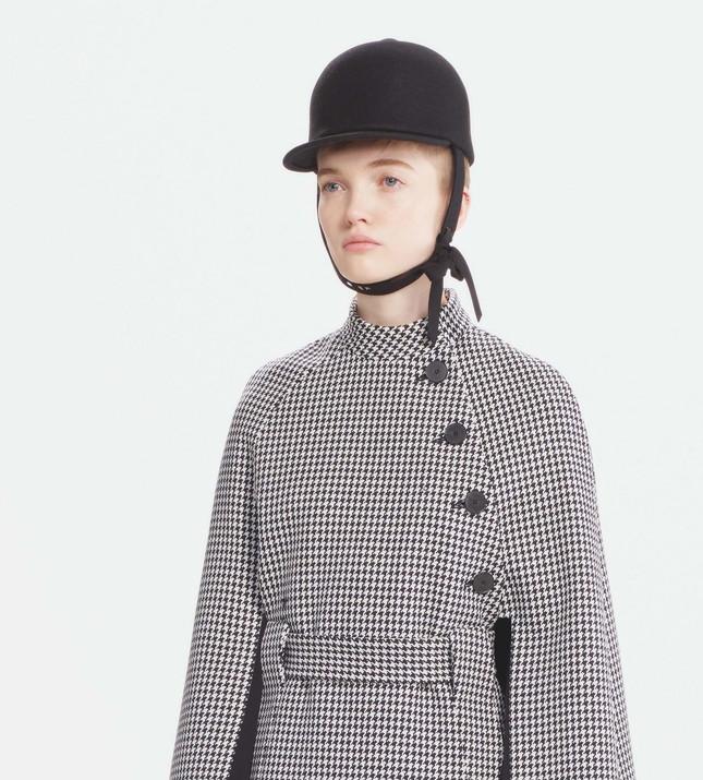 гусиный принт пальто