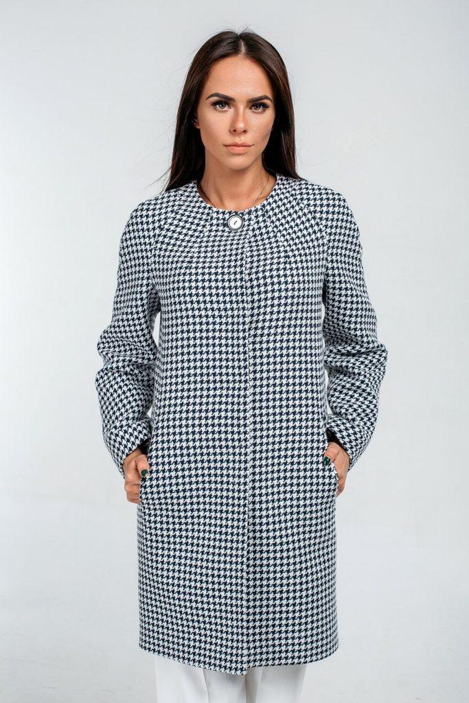 модные принты осень зима 2019-2020: гусиный пальто классика