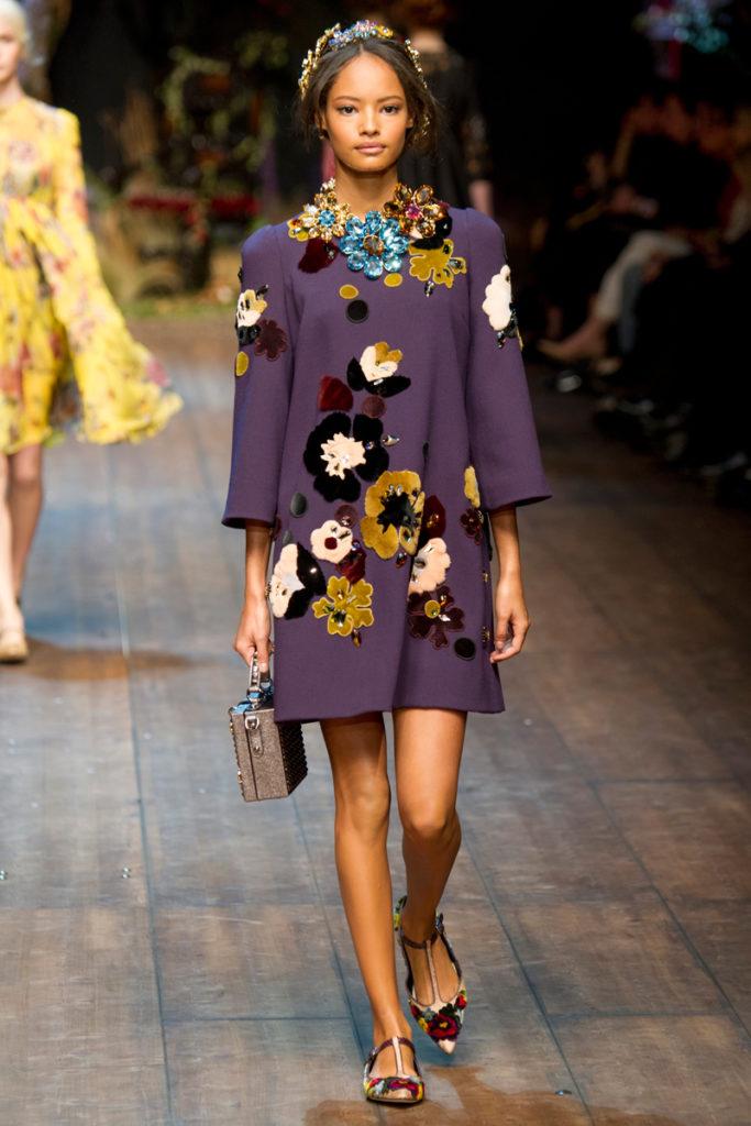 модные принты осень зима: цветочный пальто миди