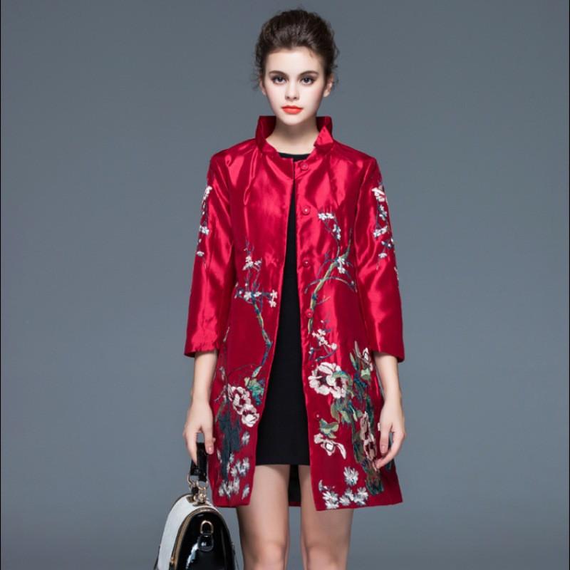 цветочный принт пальто красное в цветы