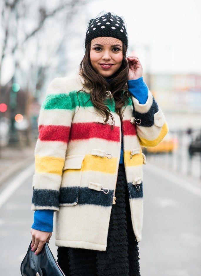 принт в полоску пальто короткое в цветную полоску