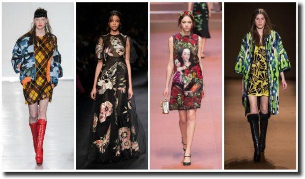 модные принты осень зима 2019-2020: в ромбы в цветы