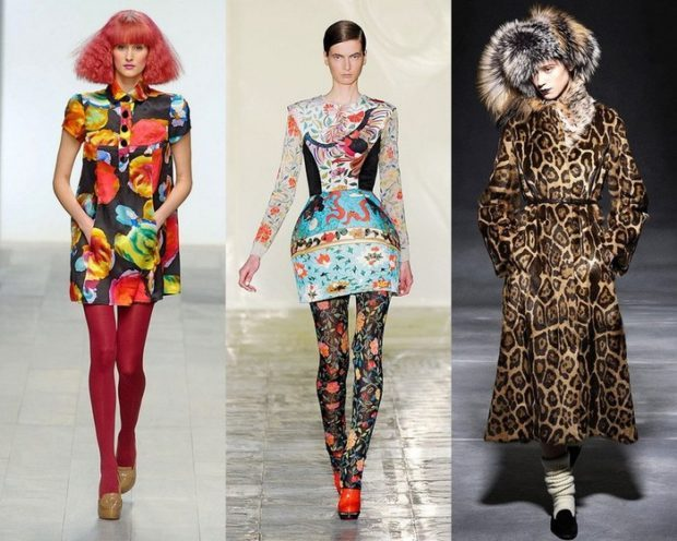 платья яркие в леопард