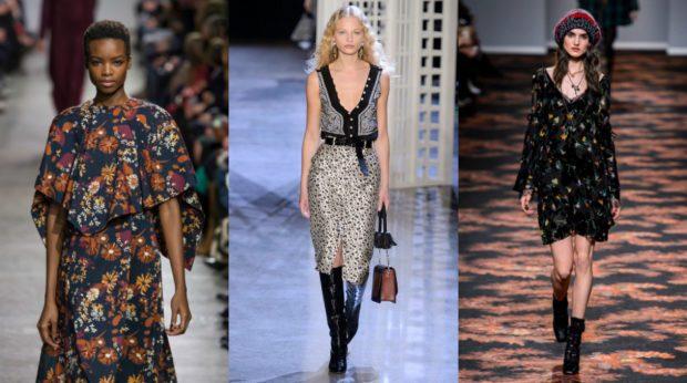 модные принты осень зима 2019-2020: цветы