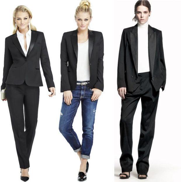 женские пиджаки 2018-2019: черные классика
