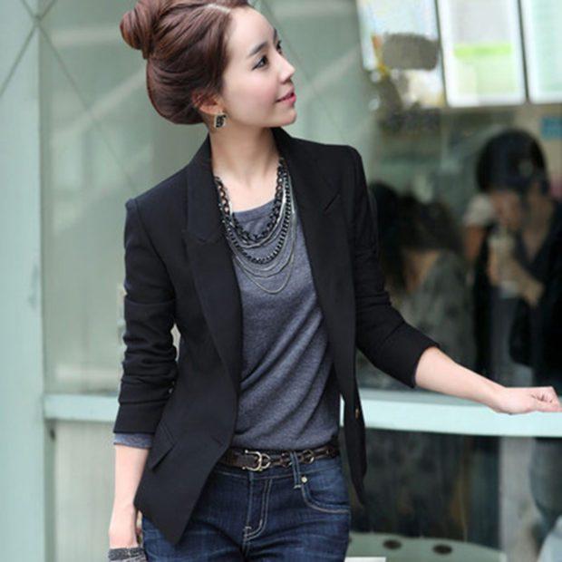женские пиджаки: черный классика