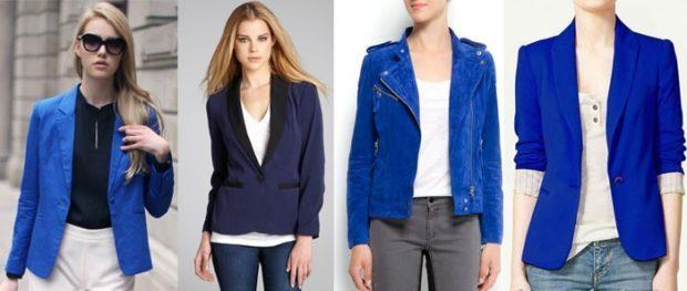 женские пиджаки: синие темное синие короткие
