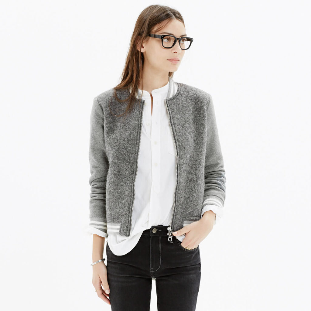 женские пиджаки: серый короткий