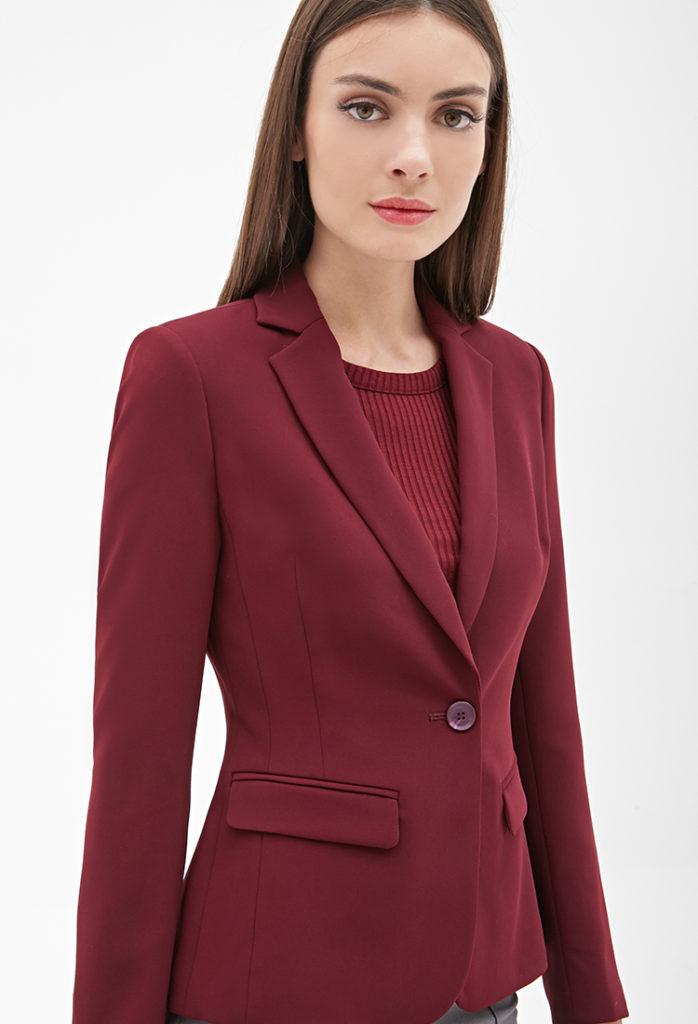 женские пиджаки: бордовый