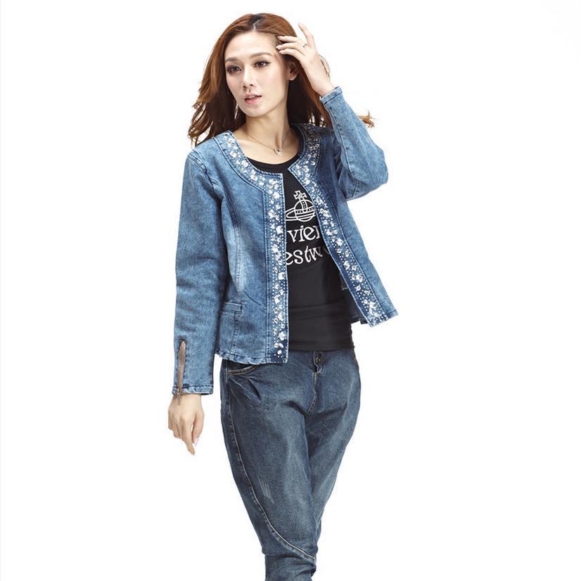 пиджак из денима синий с принтом