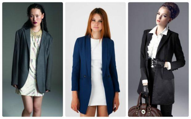 женский пиджак: классика серный синий черный
