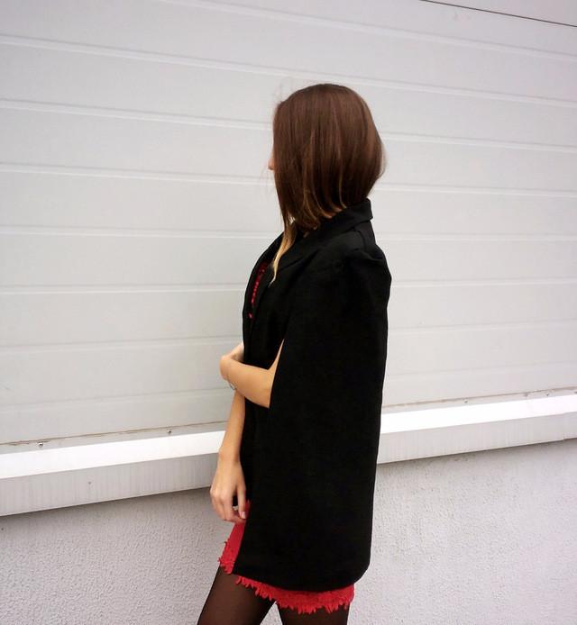 пиджак кейп черный