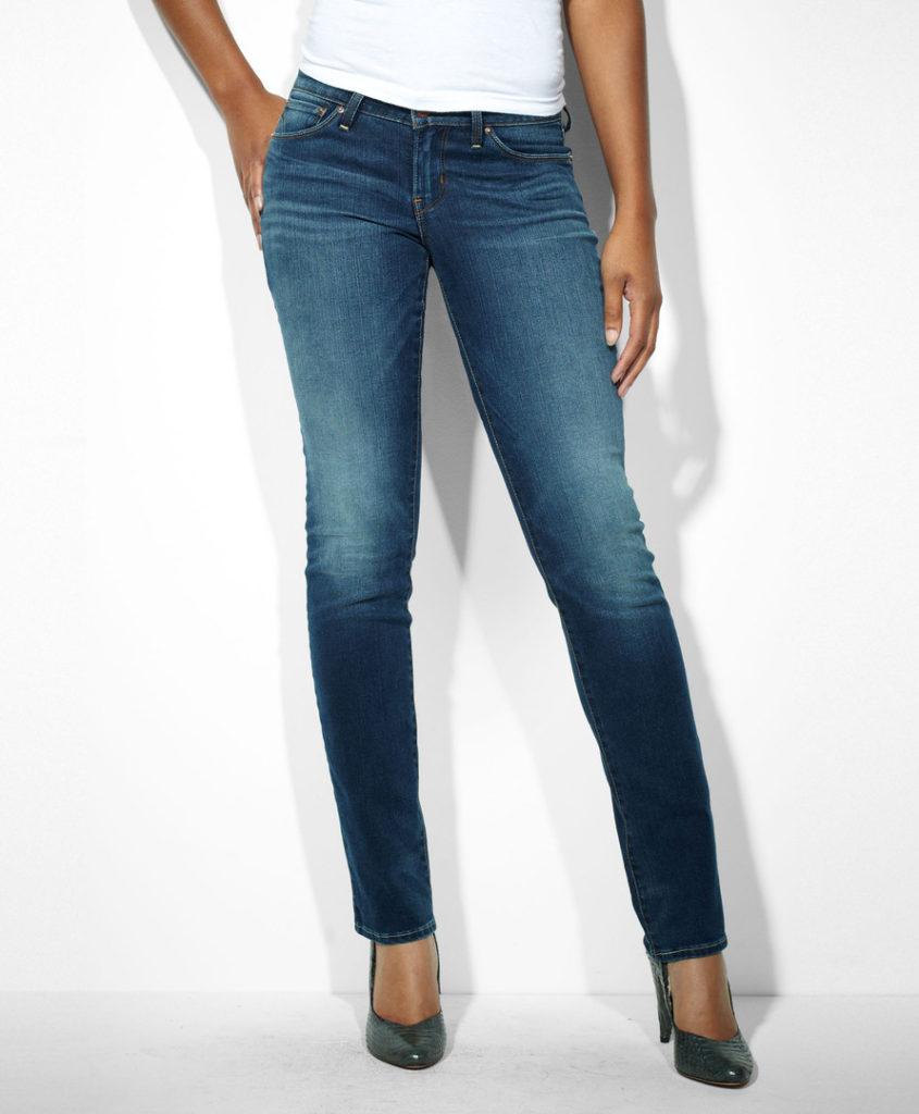 с чем носить джинсы: синие
