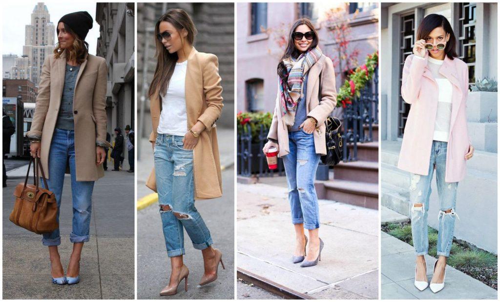 джинсы под пальо светлое по колено