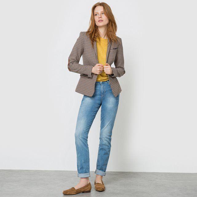 джинсы под пиджак в клетку низкий ход