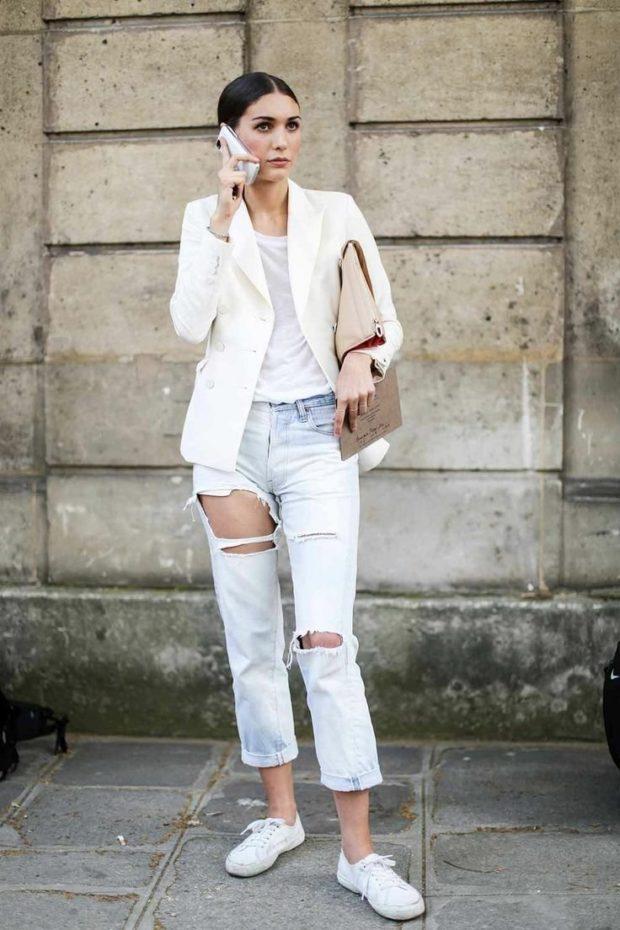 с чем носить джинсы: модный лук