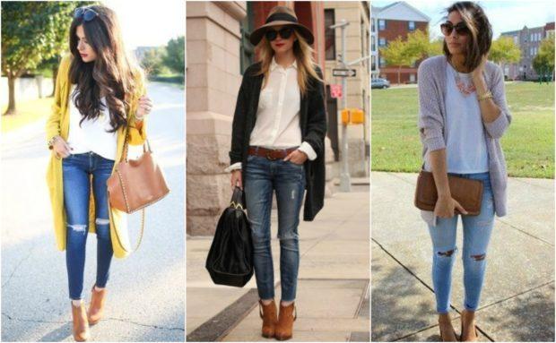 с чем носить джинсы женщине: модные луки
