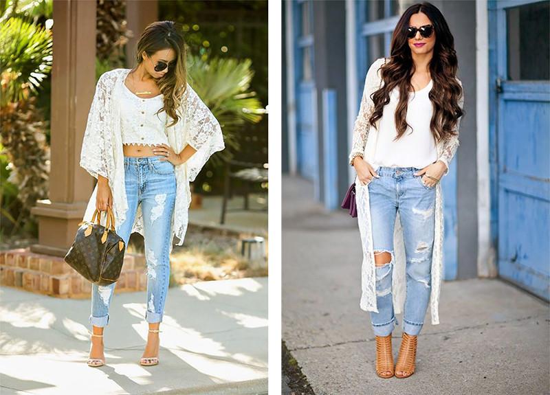 кардиган под джинсы белый кружевной под каблук