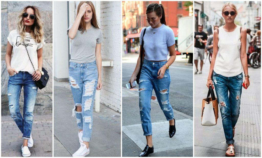 джинсы под футболки под низкий ход