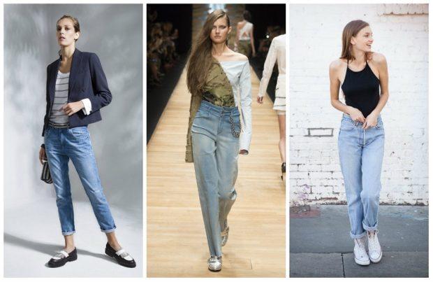 с чем носить джинсы: модный образ