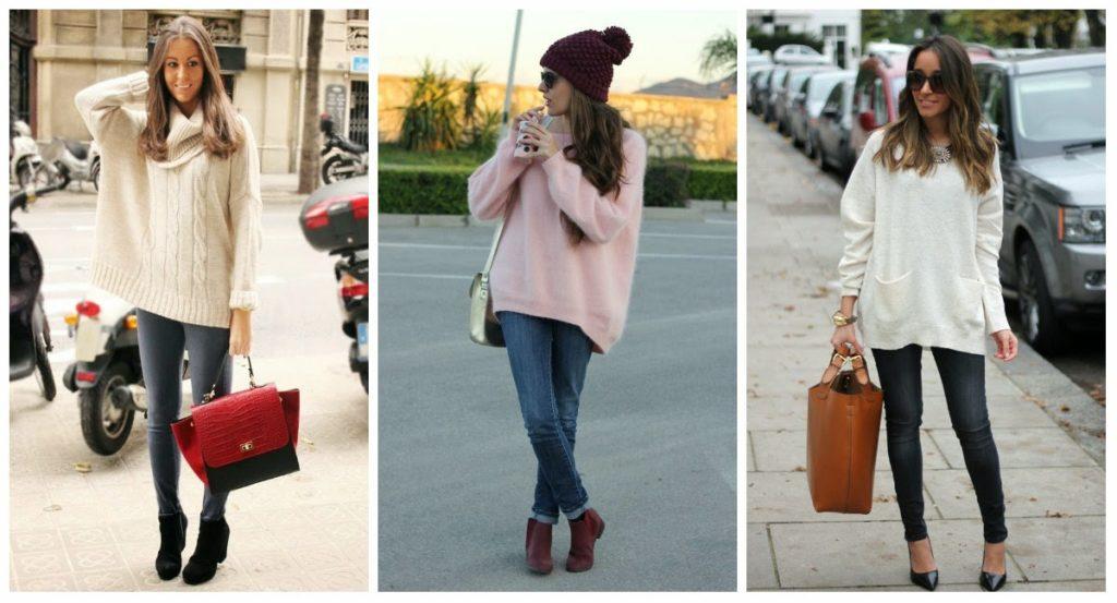 джинсы под свитера под белый розовый оверсайз
