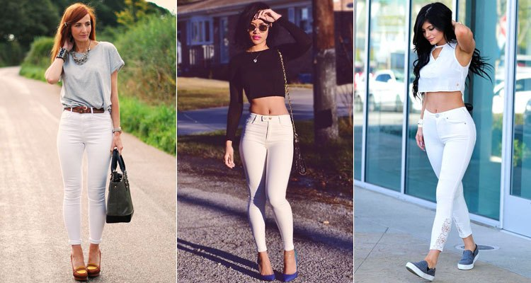 джинсы под топ серый черный белый короткие