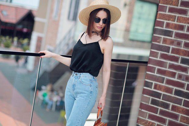 с чем носят джинсы: шляпка