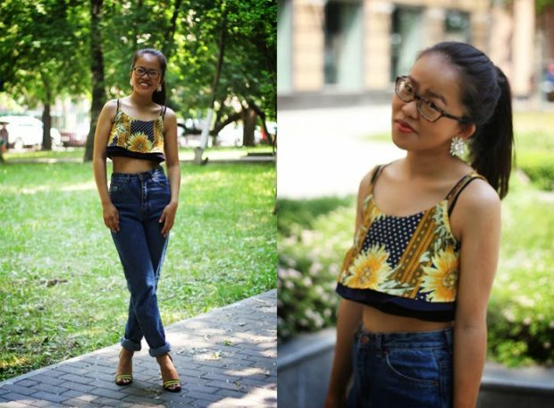 с чем носят джинсы: летний лук