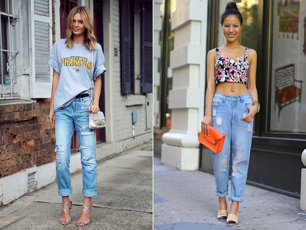 джинсы под топ короткий цветной