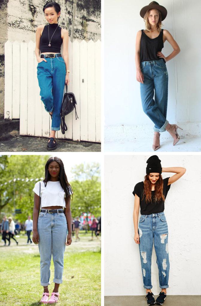 джинсы под топы черный белый