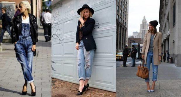 с чем носят джинсы: стильные луки с туфлями