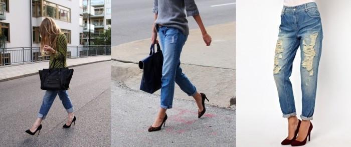 джинсы под черные туфли
