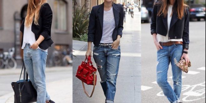 С чем носить джинсы? Стильные луки.