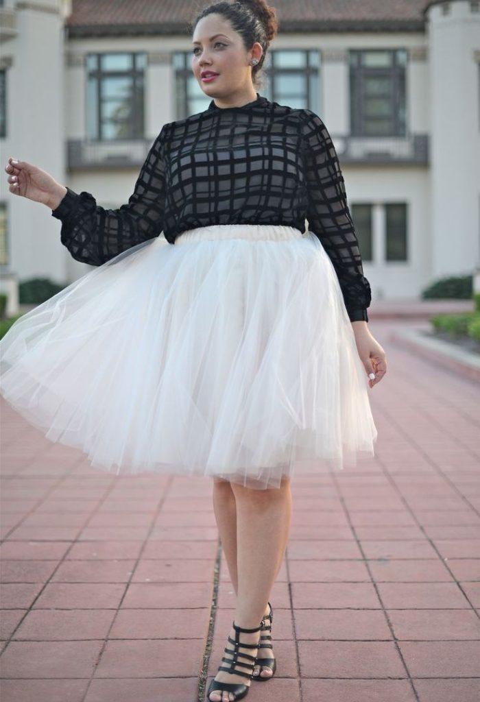 юбка пачка под кофту черную