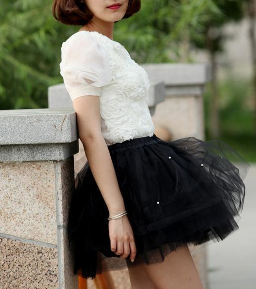 юбка пачка под рубашку короткий рукав